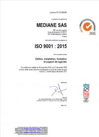Certification ISO MEDIANE